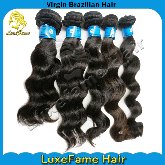 Marvelous natural black color for black women brazilian natural hair weaves