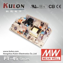 MEAN WELL 45w PCB triple output dc power supplies variable voltage PT-45C