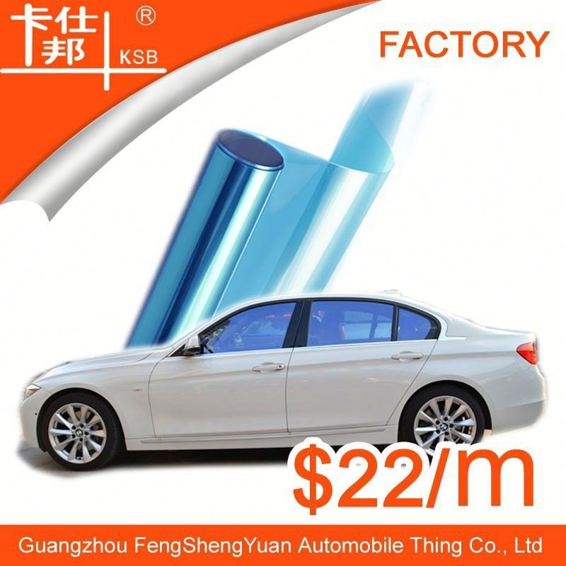 car glass color change,VLT 75% film blue car window film with free sample