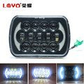 "Top Sale!!! 5D 5x7"" 7"" Square offroad LED Headlight for Jeep Trucks 5x7 LED Head Light"