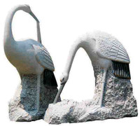 Natural Marble & Granite Stone Birds Carving Sculptures