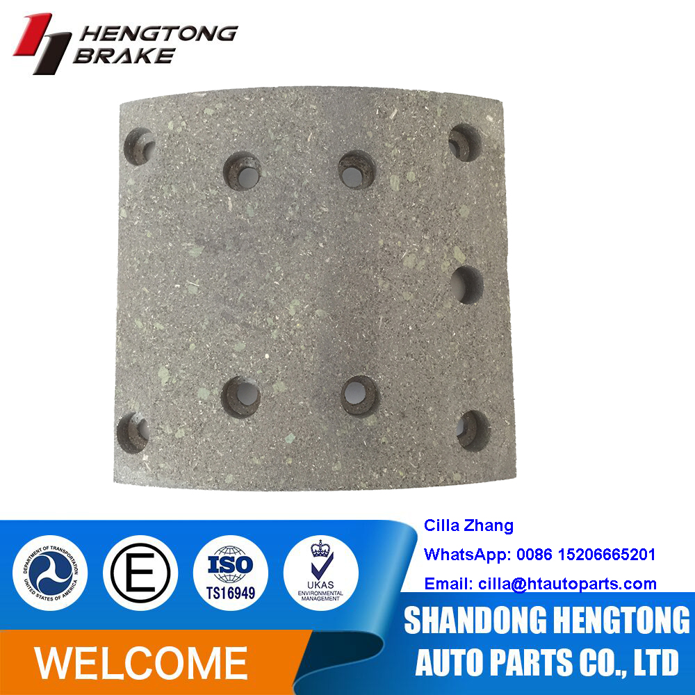 MAN/RENAULT/Steyr Brake System Brake Lining WVA19494 with long service life, Chinese brake lining factory supply chassis parts