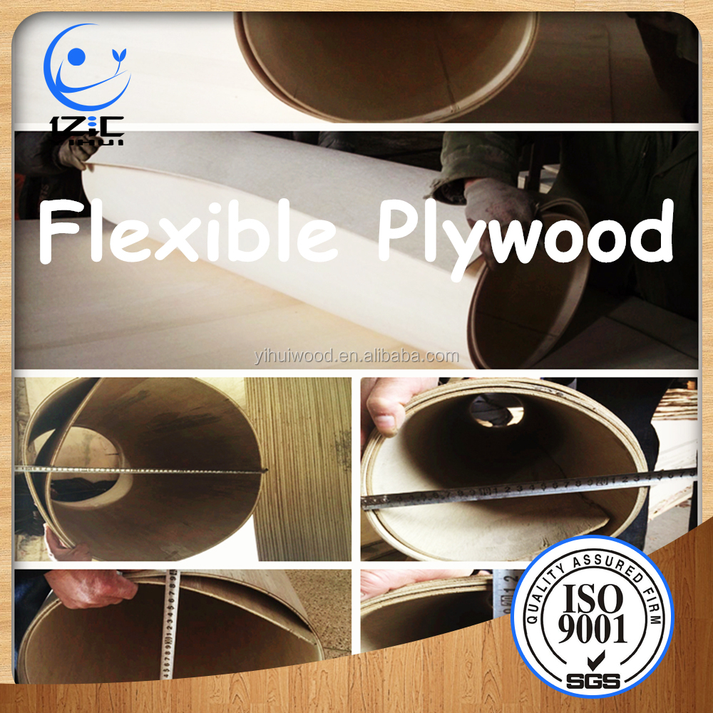 Linyi Bendable Plywood 5mm 8mm Flexible Plywood for Sale Bendy Board for Furniture