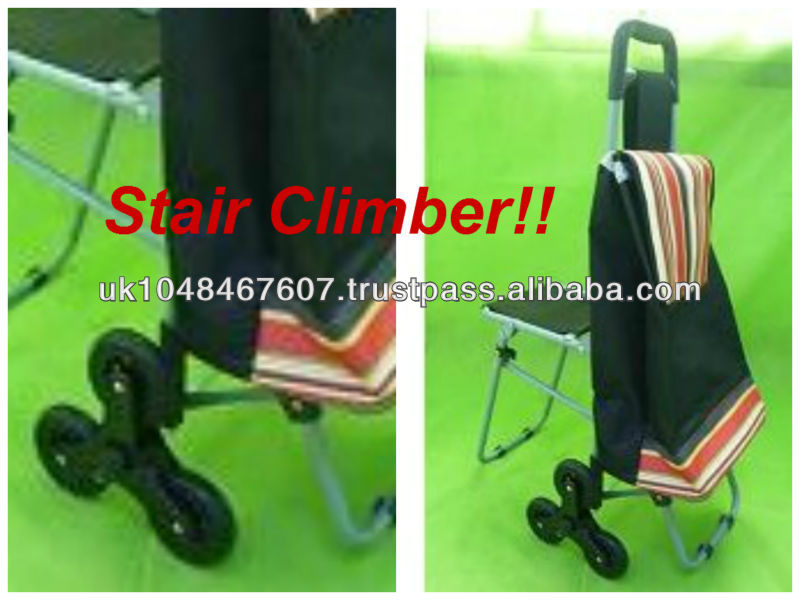 Folding Flatpack Shopping Trolley Cart with Stair Climbing Wheels