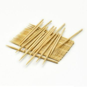 Bamboo Toothpicks Round Toothpick in bottles