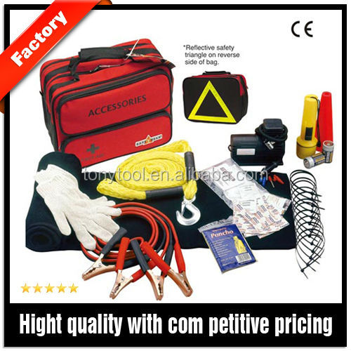 Professional Road Safety Kit At Emergency Situation