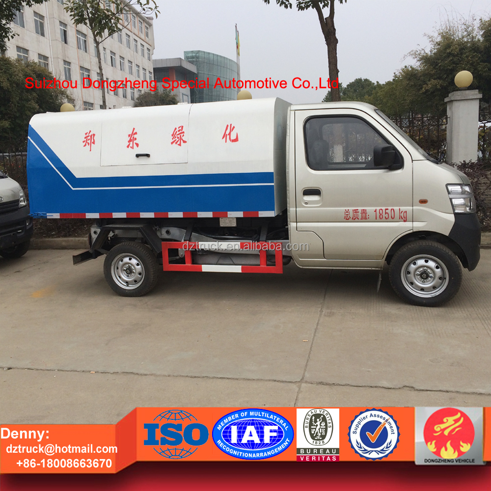 100% new mini Changan dump and sealed garbage truck