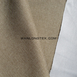 polyester linen fabric backing with pongee fabric for sofa