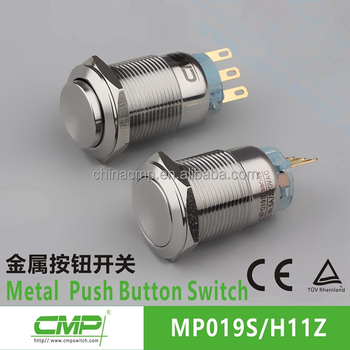 CMP momentary or latching 2NO2NC DPDT 6 pin push button switch