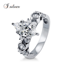 Wholesale bijouterie china 925 sterling silver 3 diamond stone Marquise Cubic Zircon Solitaire ring design R500341