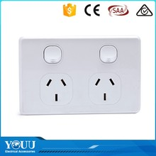 YOUU Best Selling Items 250VAC Modern Electrical Double 15A Switch With Socket