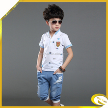 2015 new style 100% cotton boy short sleeve T-shirt clothes for kid