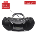 USB Output Retro Bluetooth FM Radio Player Portable CD Boombox With SD Card Slot