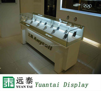 Modern glass store furniture mobile phone glass display showcase