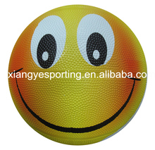 Promotional natural rubber size 5 smile basketball
