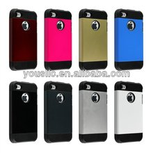 Dual Layer Defender Hybrid hard TPU Mobile Phone Case For Iphone 4 4s