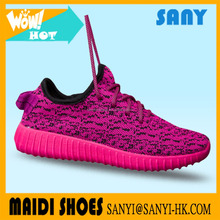 2017Cheap custom brand hottest fly weave upper add wool ling yeezy running shoes