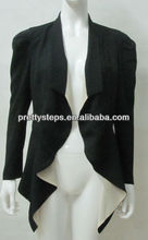 Pretty Steps 2014 ladies Tuxedo jacket women waterfall jacket