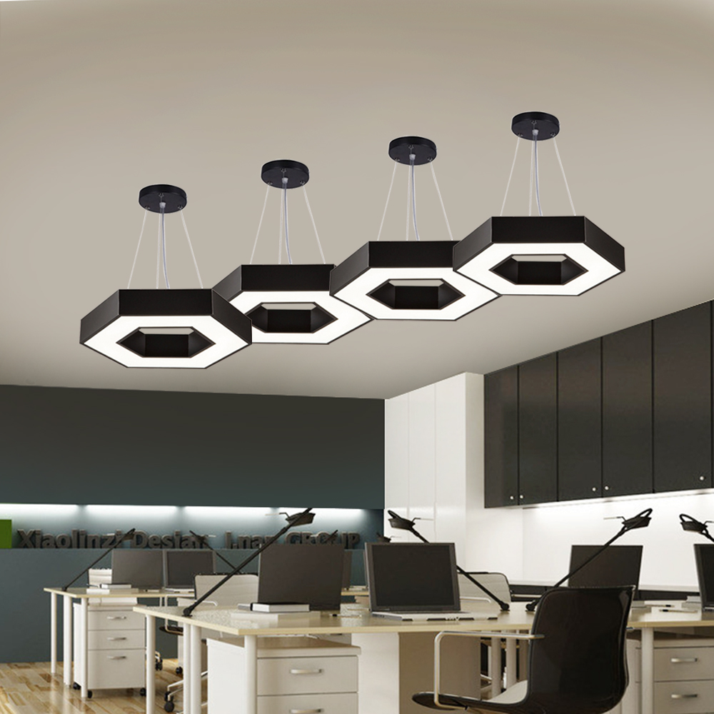 60W LED Environmental Protection Office Light Acrylic Robed Aluminum LED Chandelier & Pendant Light/LED Ceiling Lamp
