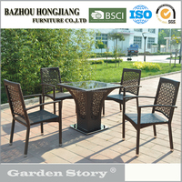 156C rattan coffee table and chair garden furniture made in China