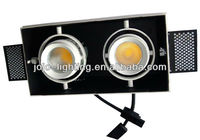 2*15W antiglare trimless recessed downlight