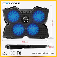 2015 new big fans adjustable laptop stand, hot sale usb 4 fans laptop cooling fan cooler pad