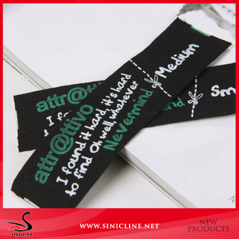 Garments Cotton Printed Logo and woven fabric Label
