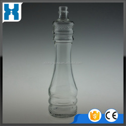 China gold manufacturer Fast Delivery rum gin spirits glass bottle