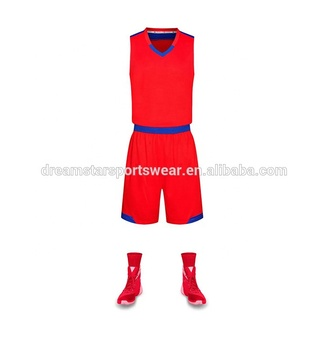 Good Quality Sport Team Set Wholesale Red Basketball Jersey