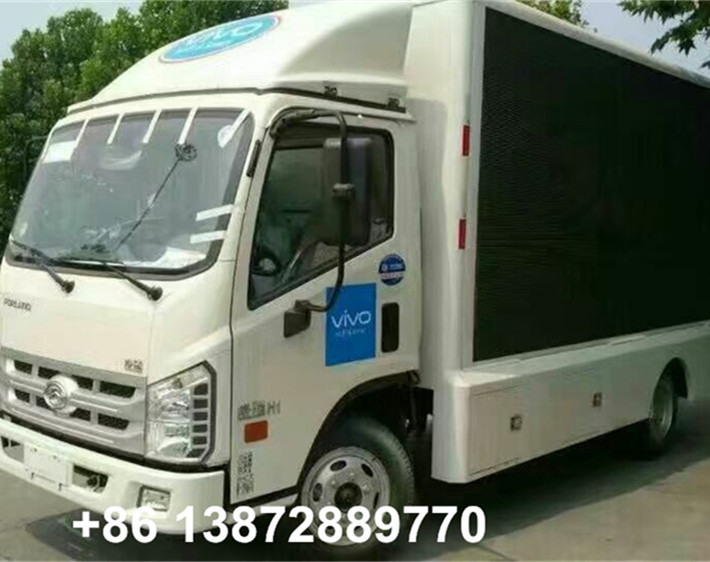 factory price foton 4*2 mobile led advertisement truck for sale