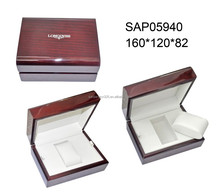 Hot sale high end piano lacquer luxury wood red wrist watch box