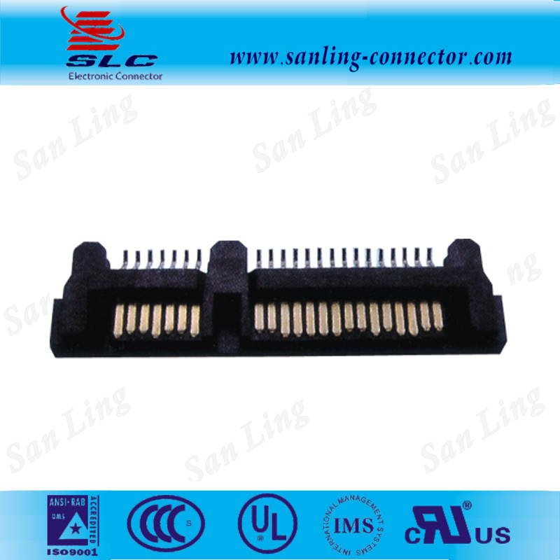 PCB application sata 22pin male split type sata connector