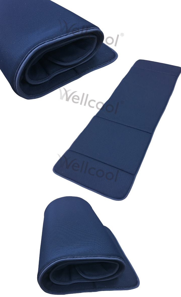 dark blue cooling 3d mesh medical foldable mattress