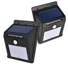New Solar Lights Indoor Waterproof Solar Motion Sensor Security Light for Garden Yard Fence Pathyway Outside Wall 16 Led