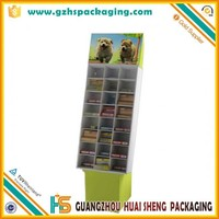 Greeting cards corrugated cardboard floor display stand