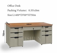 hot sale office furniture wooden MDF and steel executive desk