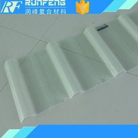 Colored plastic corrugated roof sheet/panel/board