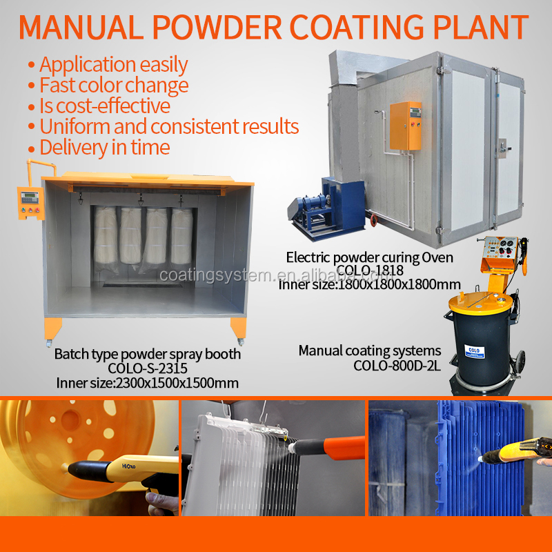 Manual Powder Coating Application Machine (booth/oven/gun)