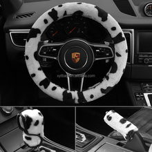 Automobiles & Motorcycles Accessories New Cows pattern design Plush steering wheel cover