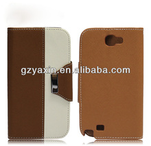 Hot sell combo holster case for samsung n7100,wholesale factory price pu leahter outerbox cover for galaxy note2