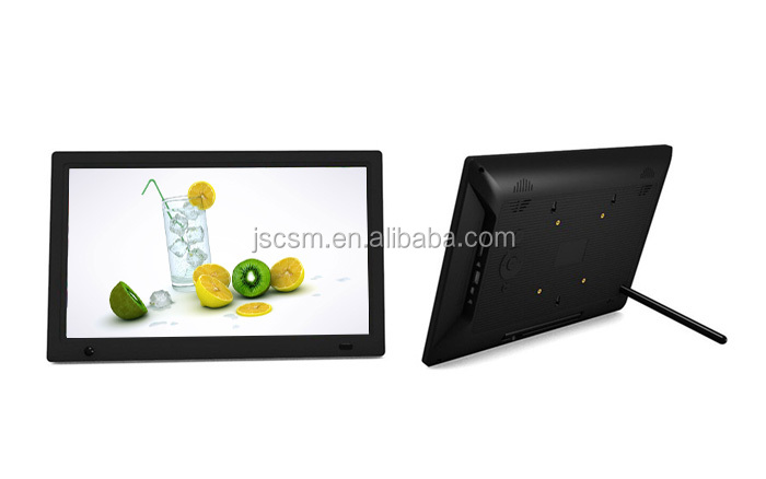 New products 15.6 inch blue picture video playing digital photo frame for advertising