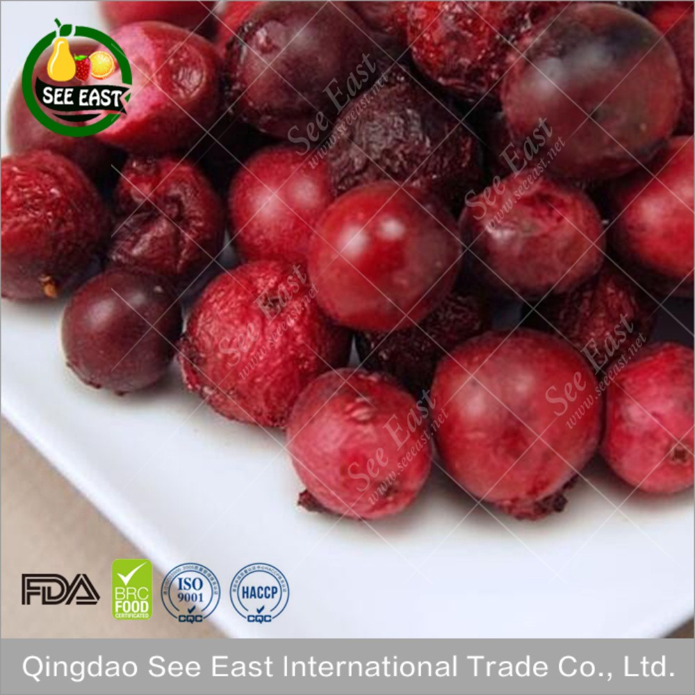 Halal food chinese freeze dried cranberries from ISO certified company