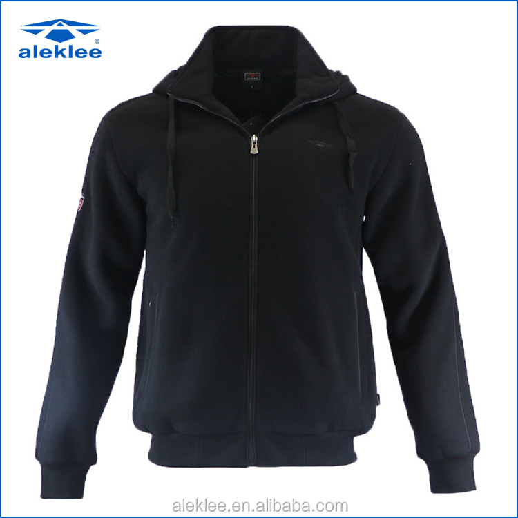 2017 new arrival best seller custom fitted black hoodie men with zipper