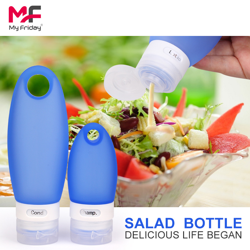 China Manufacturer New Product travel airless bottle silicone plastic food container