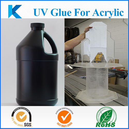 Customized high performance UV glue for acrylic bonding