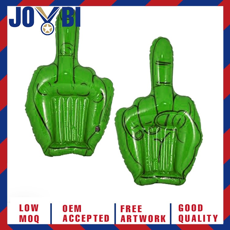 giant plastic inflatable middle finger hand with logo for advertisement