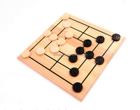 Wooden Checkers Board Game