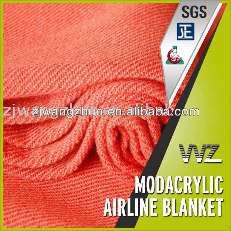 100%Modacrylic flame retardant airline blankets for sale Chinese manufacturer twill woven car blanket picnic blanket
