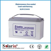 Solar GEL Battery Deep Cycle Battery Solar Battery 12v 100ah for UPS Solar System Wind Energy System