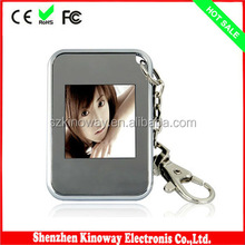 1.5 Size gif digital picture frame Metal Frame Material digital photo frame keyring